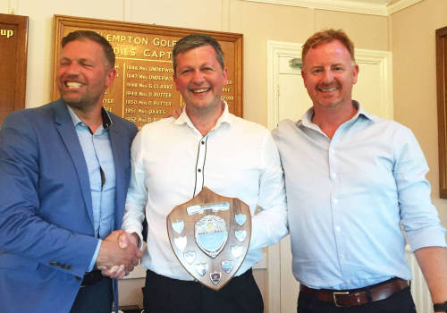 Kevin Dobson wins the coveted Eastern Forklift Trucks Golf Day Shield!